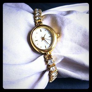 Women's Gold Diamond Watch